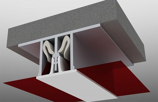Закрытие швов на натяжном потолке