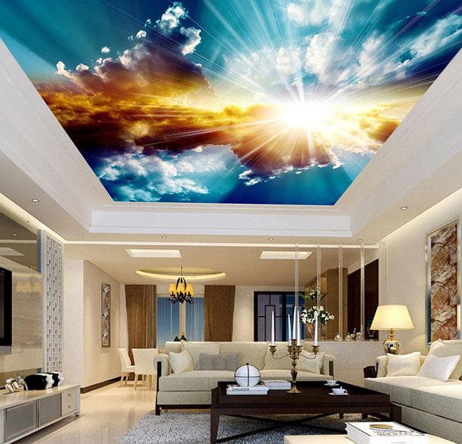 """3d натяжной потолок """"небо"""""""