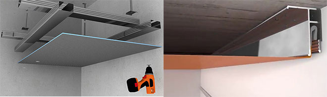 Отличие натяжного и подвесного потолков