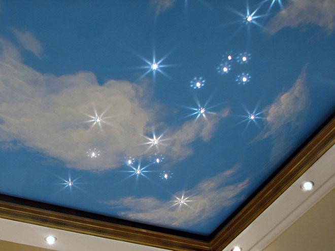 """Освещение """"звездное небо"""" для натяжного потолка"""