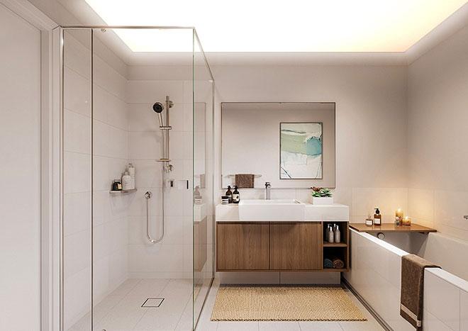 Тканевый натяжной потолок в ванной