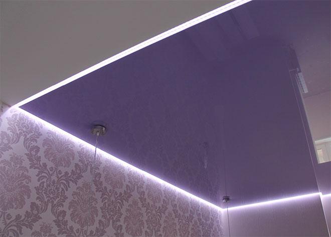 Одноуровневый парящий потолок