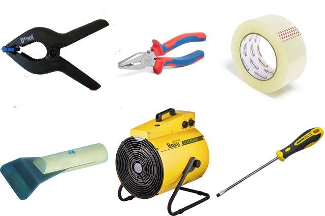 Инструмент, необходимый для демонтажа натяжного потолка
