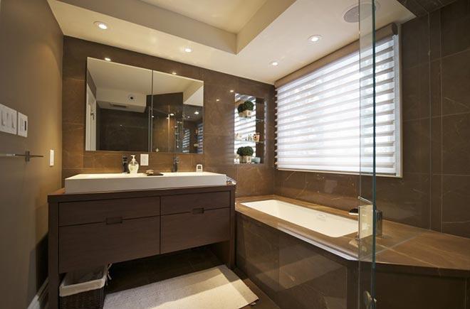 Точечные LED светильники в ванной