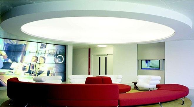 Многоуровневый круглый потолок