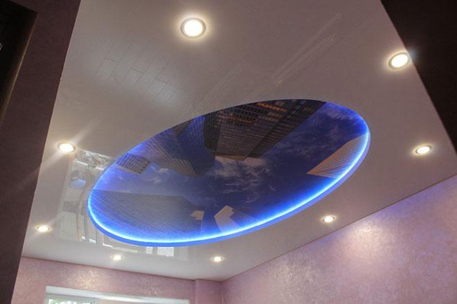 Овальный парящий потолок