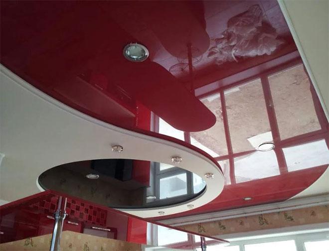 Комбинированный потолок ГКЛ + натяжной