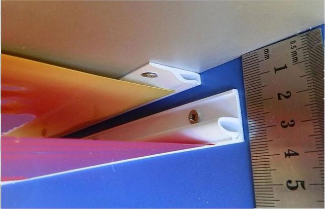 Потолочный и стеновой клипсовый профиль