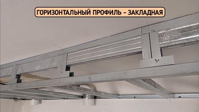 Закладной профиль для багета натяжного потолка