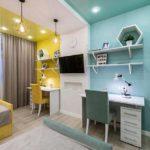 Комбинированный потолок в комнате подростка