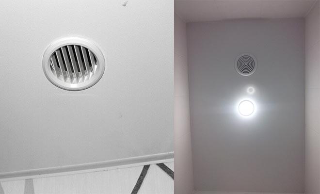 Вентиляционные решетки в натяжном потолке