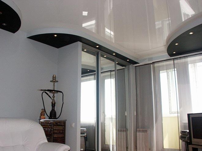 светильники в натяжном потолке для освещения шкафа-купе