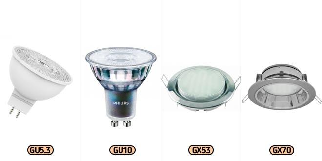 Типы ламп, используемых в светильниках для натяжных потолков