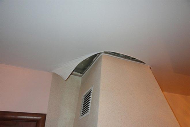 Короб для обвода труб натяжным потолком